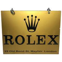 Gold Rolex Shop Display Exterior Wall Swinging Sign Bond Street Mayfair London