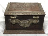 Rare Original Es Jassoy 19th Century French Napoleon III Antique Jewellery Casket Box Copper Plaque