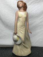 Vintage 20th Century Original Spanish Signed Porcelain Beautiful Lady Figurine