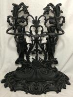 Large Cast Iron French Umbrella Stick Stand Corneau Alfred A Charlesville No 27