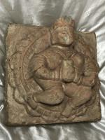 Rare 18th Century French Sculpture Carved Stone King Corbel Plaque