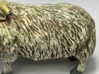 Early 20th Century Cold Painted Bronze Male RAm Horn Sheep Sculpture by Franz Bergman (24 of 29)