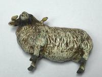 Early 20th Century Cold Painted Bronze Male RAm Horn Sheep Sculpture by Franz Bergman (10 of 29)