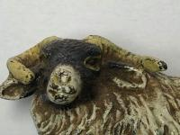 Early 20th Century Cold Painted Bronze Male RAm Horn Sheep Sculpture by Franz Bergman (4 of 29)