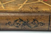 Rare Antique Olivewood Inlaid Marquetry Vesta Match Striker Case Book (5 of 18)