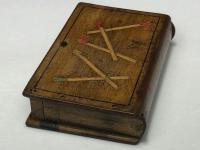 Rare Antique Olivewood Inlaid Marquetry Vesta Match Striker Case Book (11 of 18)