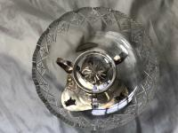 Antique Victorian Silver Plate Egyptian Sphinx Glass Epergne Centrepiece Stand (2 of 12)
