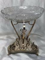 Antique Victorian Silver Plate Egyptian Sphinx Glass Epergne Centrepiece Stand (11 of 12)