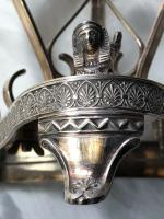 Antique Victorian Silver Plate Egyptian Sphinx Glass Epergne Centrepiece Stand (3 of 12)