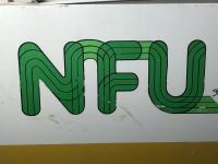 Large 20th Century Original Double Sided National Farmers Union Mutual Enamel Sign (27 of 34)