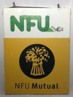 Large 20th Century Original Double Sided National Farmers Union Mutual Enamel Sign (11 of 34)