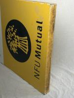 Large 20th Century Original Double Sided National Farmers Union Mutual Enamel Sign (6 of 34)