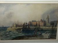 Early Victorian 19th Century Maritime Watercolour Liverpool Mersey Ships St George's Basin T Hargreaves (34 of 35)