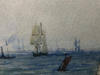 Early Victorian 19th Century Maritime Watercolour Liverpool Mersey Ships St George's Basin T Hargreaves (8 of 35)