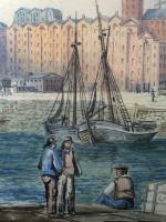 Early Victorian 19th Century Maritime Watercolour Liverpool Mersey Ships St George's Basin T Hargreaves (15 of 35)