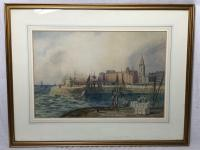 Early Victorian 19th Century Maritime Watercolour Liverpool Mersey Ships St George's Basin T Hargreaves (31 of 35)
