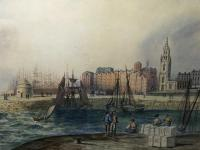 Early Victorian 19th Century Maritime Watercolour Liverpool Mersey Ships St George's Basin T Hargreaves (33 of 35)
