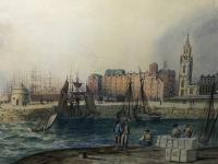 Early Victorian 19th Century Maritime Watercolour Liverpool Mersey Ships St George's Basin T Hargreaves (32 of 35)