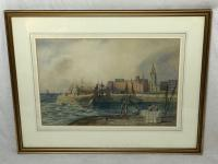 Early Victorian 19th Century Maritime Watercolour Liverpool Mersey Ships St George's Basin T Hargreaves (35 of 35)