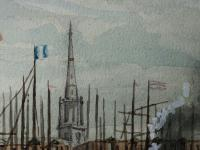 Antique Victorian 19th Century Watercolour Painting Liverpool Paddle Ferry Ships Mersey Mcgahey (15 of 24)