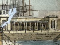 Antique Victorian 19th Century Watercolour Painting Liverpool Paddle Ferry Ships Mersey Mcgahey (17 of 24)