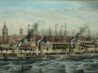 Antique Victorian 19th Century Watercolour Painting Liverpool Paddle Ferry Ships Mersey Mcgahey (2 of 24)