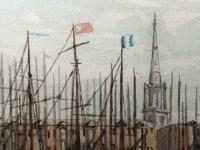 Antique Victorian 19th Century Watercolour Painting Liverpool Paddle Ferry Ships Mersey Mcgahey (6 of 24)