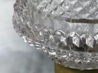 Pair RAre Victorian Clarke's Cricklite Gilt Bronze Cut Glass Domed Shades Fairy Lamps Candelabra's (48 of 48)