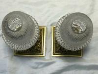 Pair RAre Victorian Clarke's Cricklite Gilt Bronze Cut Glass Domed Shades Fairy Lamps Candelabra's (19 of 48)
