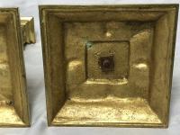 Pair RAre Victorian Clarke's Cricklite Gilt Bronze Cut Glass Domed Shades Fairy Lamps Candelabra's (23 of 48)