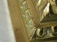 Pair RAre Victorian Clarke's Cricklite Gilt Bronze Cut Glass Domed Shades Fairy Lamps Candelabra's (41 of 48)
