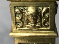 Pair RAre Victorian Clarke's Cricklite Gilt Bronze Cut Glass Domed Shades Fairy Lamps Candelabra's (43 of 48)