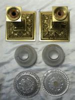 Pair RAre Victorian Clarke's Cricklite Gilt Bronze Cut Glass Domed Shades Fairy Lamps Candelabra's (29 of 48)