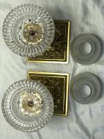 Pair RAre Victorian Clarke's Cricklite Gilt Bronze Cut Glass Domed Shades Fairy Lamps Candelabra's (37 of 48)
