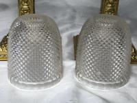 Pair RAre Victorian Clarke's Cricklite Gilt Bronze Cut Glass Domed Shades Fairy Lamps Candelabra's (38 of 48)