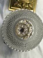 Pair RAre Victorian Clarke's Cricklite Gilt Bronze Cut Glass Domed Shades Fairy Lamps Candelabra's (4 of 48)