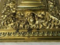 Pair RAre Victorian Clarke's Cricklite Gilt Bronze Cut Glass Domed Shades Fairy Lamps Candelabra's (16 of 48)