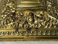 Pair RAre Victorian Clarke's Cricklite Gilt Bronze Cut Glass Domed Shades Fairy Lamps Candelabra's (12 of 48)