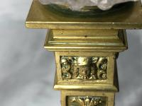Pair RAre Victorian Clarke's Cricklite Gilt Bronze Cut Glass Domed Shades Fairy Lamps Candelabra's (44 of 48)