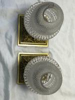 Pair RAre Victorian Clarke's Cricklite Gilt Bronze Cut Glass Domed Shades Fairy Lamps Candelabra's (5 of 48)