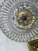 Pair RAre Victorian Clarke's Cricklite Gilt Bronze Cut Glass Domed Shades Fairy Lamps Candelabra's (36 of 48)