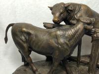 19th Century Victorian Bronze Bulls Sculpture After Paul Edouard Delabrierre (31 of 41)