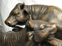 19th Century Victorian Bronze Bulls Sculpture After Paul Edouard Delabrierre (30 of 41)