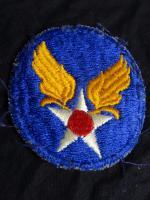Vintage Military Original WW2 1939-45 USAAF US Air Force Shoulder Badge Patch