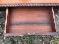 Large Antique 19th Century Regency Style Rosewood Writing Table / Partners Desk (27 of 32)