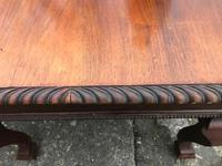 Large Antique 19th Century Regency Style Rosewood Writing Table / Partners Desk (5 of 32)