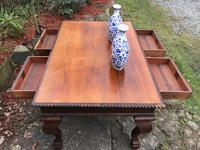 Large Antique 19th Century Regency Style Rosewood Writing Table / Partners Desk (10 of 32)