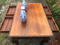 Large Antique 19th Century Regency Style Rosewood Writing Table / Partners Desk (11 of 32)