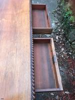 Large Antique 19th Century Regency Style Rosewood Writing Table / Partners Desk (12 of 32)