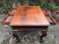 Large Antique 19th Century Regency Style Rosewood Writing Table / Partners Desk (17 of 32)
